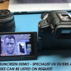 uv sunscreen camera