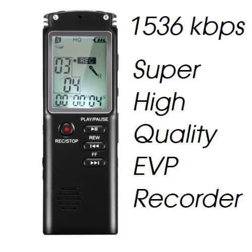 Hi Quality EVP Recorder - 1536Kbps WAV