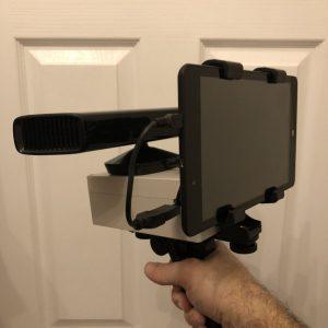 kinect sensor tablet sls stickman ghost hunting