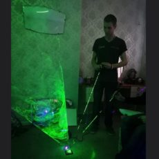 Laser Tunnel Ghost Hunting