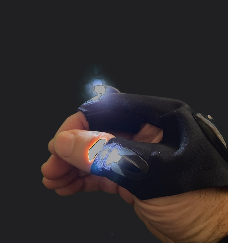 Ghost Hunting Glove Torch